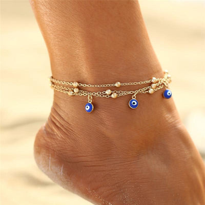 Turkish Eye Anklets (2 pack)