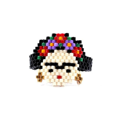 Frida/Calavera Beaded Rings