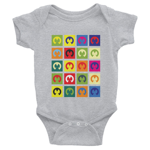 M POP ART Infant short sleeve one-piece