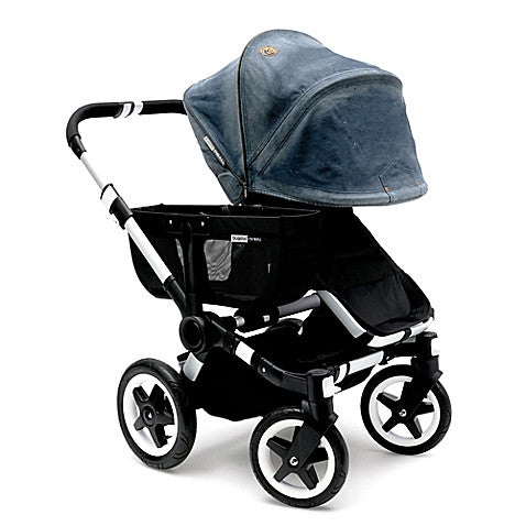 Bugaboo® Donkey Special Edition Tailored Fabric Set by Diesel in Denim - Baby Strollers Center