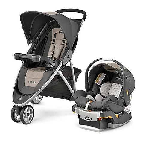 Chicco® Viaro™ Travel System in Teak - Baby Strollers Center