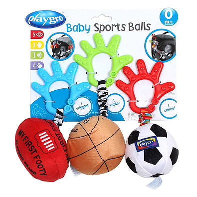 Playgro™ 3-Piece Sports Balls Activity Toy Set - Baby Strollers Center