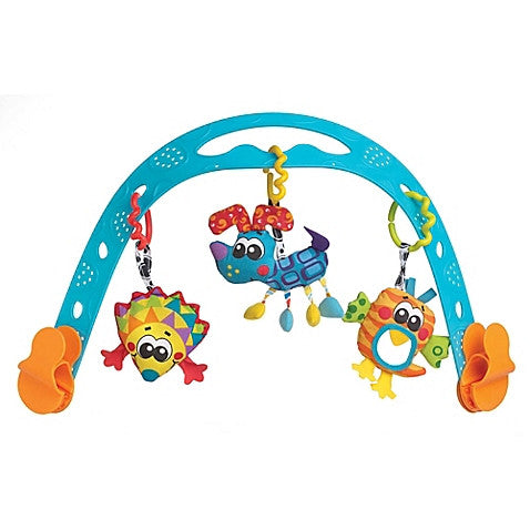 Playgro™ Animal Friends Travel Play Arch in Blue/Multi - Baby Strollers Center