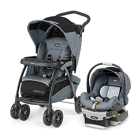 Chicco® Cortina® CX Keyfit® 30 Travel System in Iron™ - Baby Strollers Center