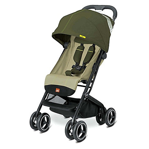 GB® Qbit Plus Stroller in Lizard Khaki - Baby Strollers Center