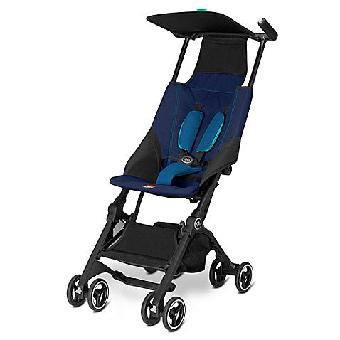 GB®  Pockit Stroller in Seaport Blue - Baby Strollers Center