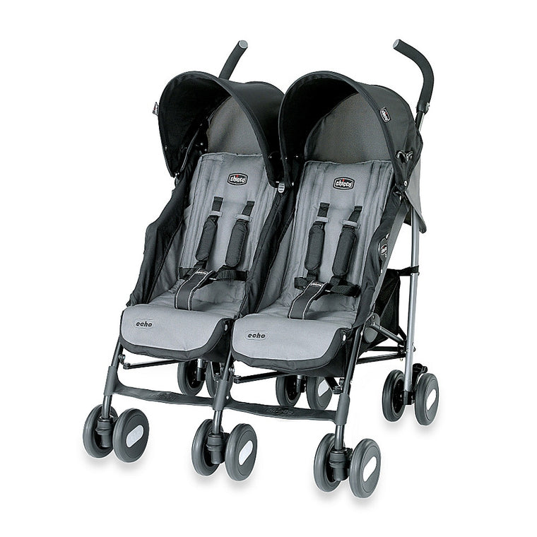 Chicco® Echo™ Twin Stroller in Coal - Baby Strollers Center