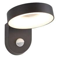 Searchlight Circle LED Outdoor PIR Wall Light Dark Grey