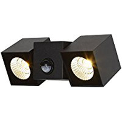 Searchlight Dallas LED Outdoor PIR Wall Light 2 Cube Lights