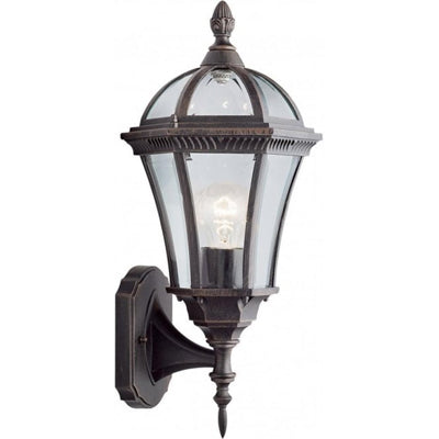 Searchlight Capri LED Outdoor Wall Lantern Rustic Brown E27