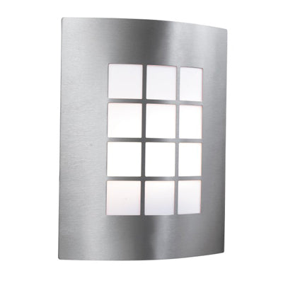 Searchlight Stainless Steel Wall Light Square PC Diffuser