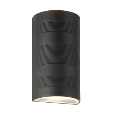 Searchlight Curved Up Down Wall Light Black