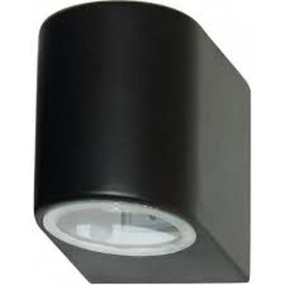 Searchlight Black Wall Light Down Facing Fixed Glass Lens