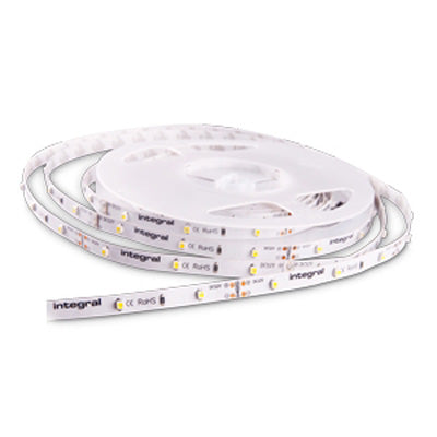 Integral LED 5M LED Strip 12V 6W IP33 Daylight Dim CRI80