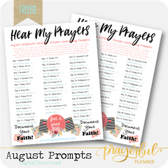 August Prayer Prompts