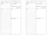 PRINTABLE 2020 Dated Planner - Petite Size