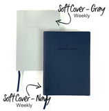 "2021 ""WEEKLY"" Prayerful Planner - ""DATED"" Soft Cover Navy"