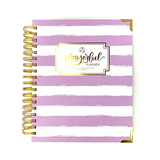 "Prayerful Planner - ""UNDATED"" Lavender Stripe"