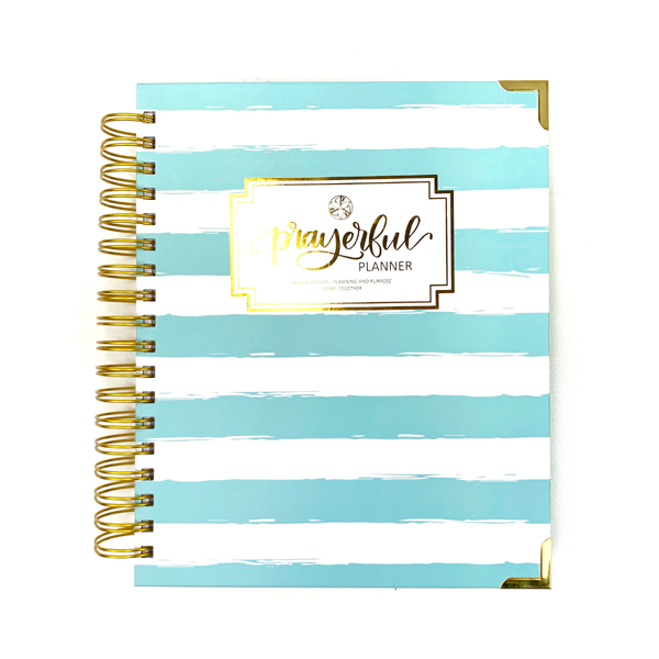 "Prayerful Planner - ""UNDATED"" Mint Stripe"