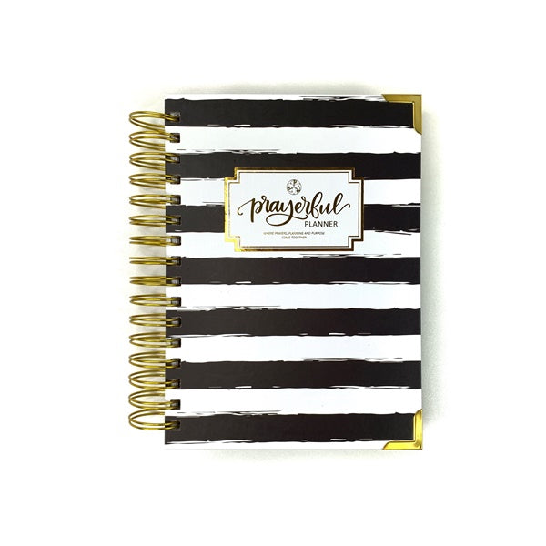 """PETITE"" Prayerful Planner - ""UNDATED"" Black Stripe"