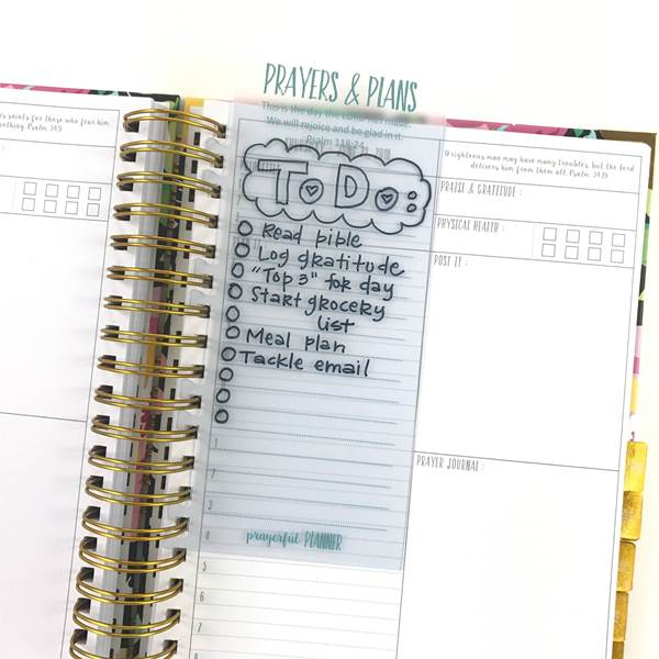 Prayerful Planner Snap-In Dashboard with Wet Erase Pen