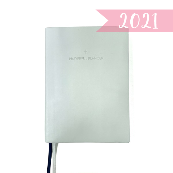 "2021 ""WEEKLY"" Prayerful Planner - ""DATED"" Soft Cover Gray"