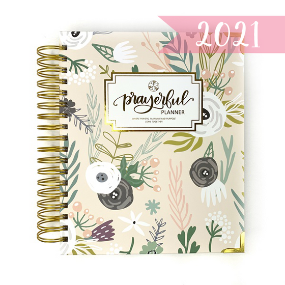 "2021 Prayerful Planner - ""DATED"" Tranquil Tan"
