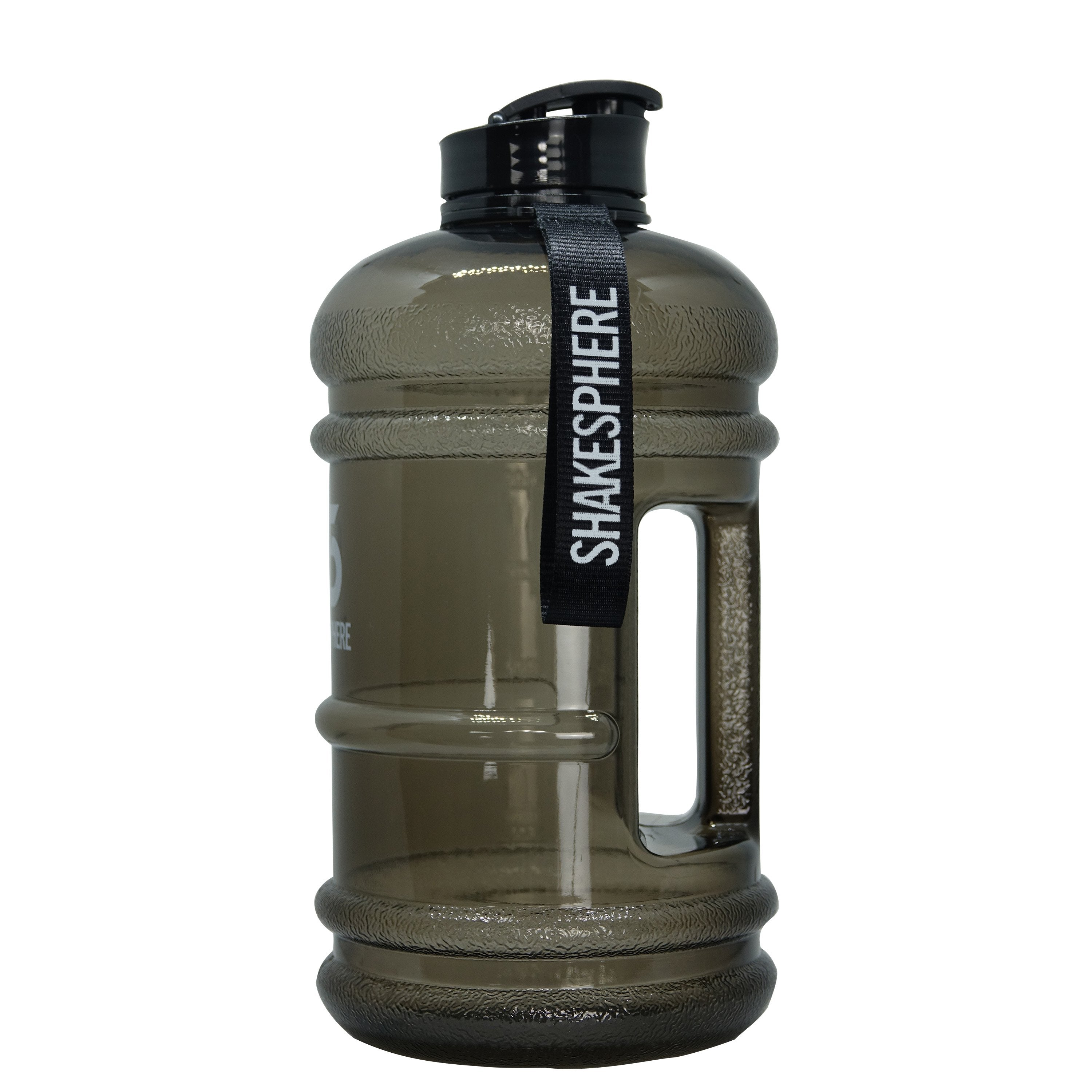 2.2L ShakeSphere Water Bottle Black with Flip Cap