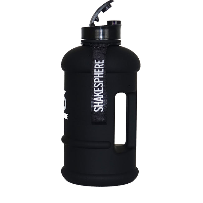 1.3 Liter Matte Black Water Bottle with White ShakeSphere Logo - ShakeSphere