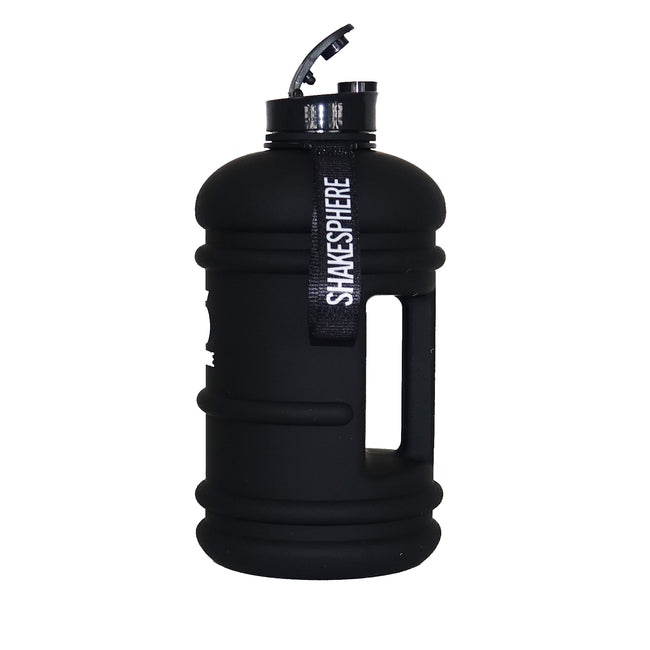 2.2 Liter Matte Black Water Bottle with White ShakeSphere Logo - ShakeSphere
