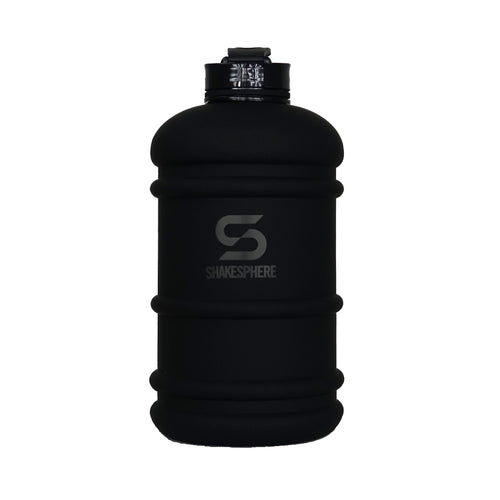 2.2 Liter Matte Black Water Bottle with Black ShakeSphere Logo
