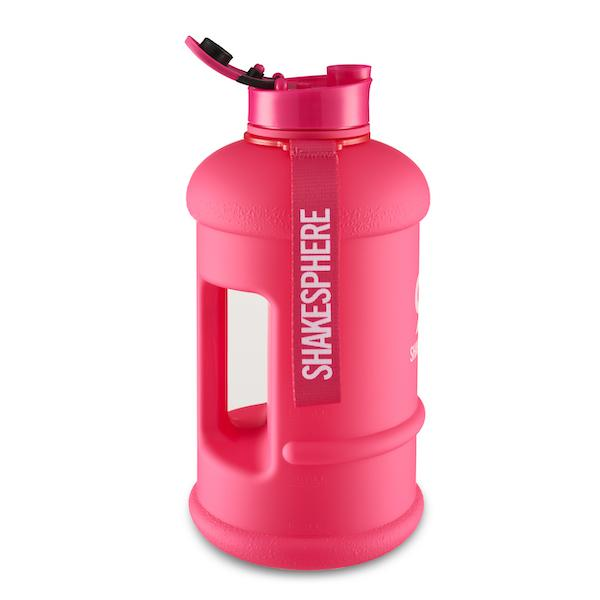Matte Pink Hydration Jug with White ShakeSphere Logo 1.3 Litre