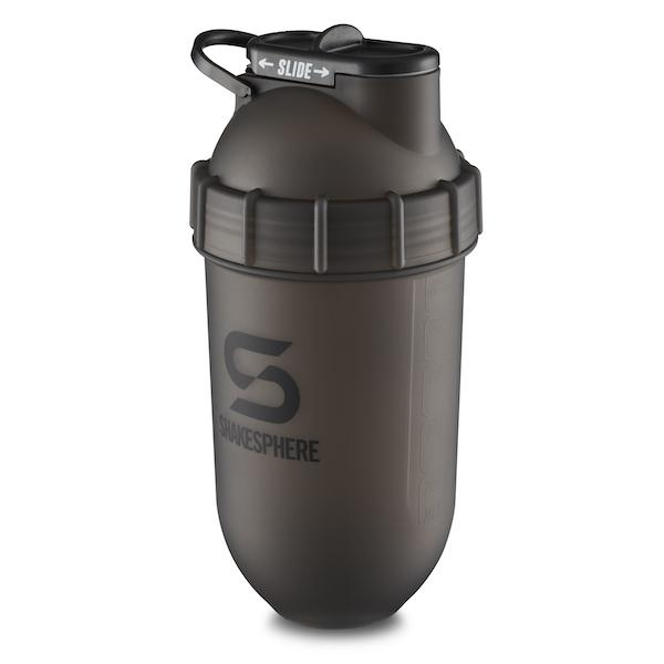 700mls Shaker Bottle Frosted Black with Black Logo - Free UK Delivery