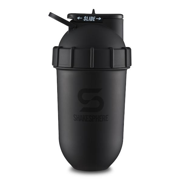 700mls Shaker Bottle Matte Black with Black Logo - Free UK Delivery