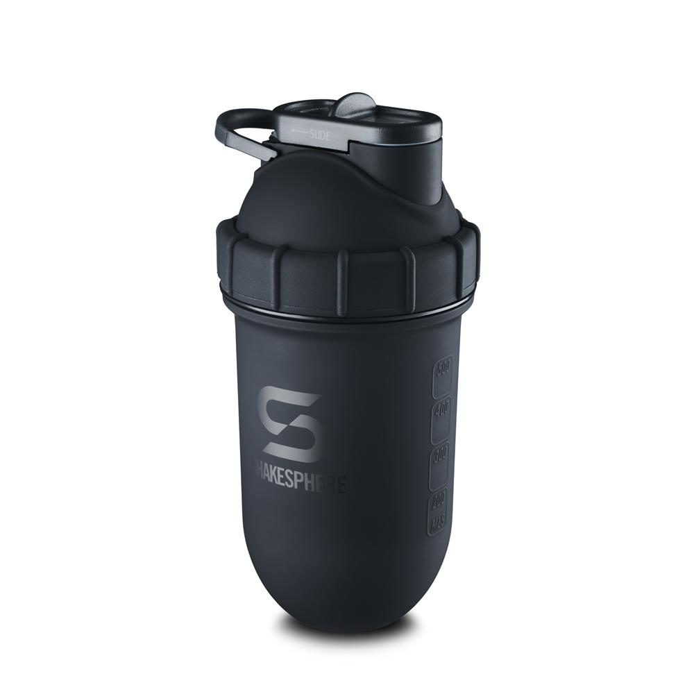 700mls ShakeSphere Tumbler Double Wall Steel Matte Black