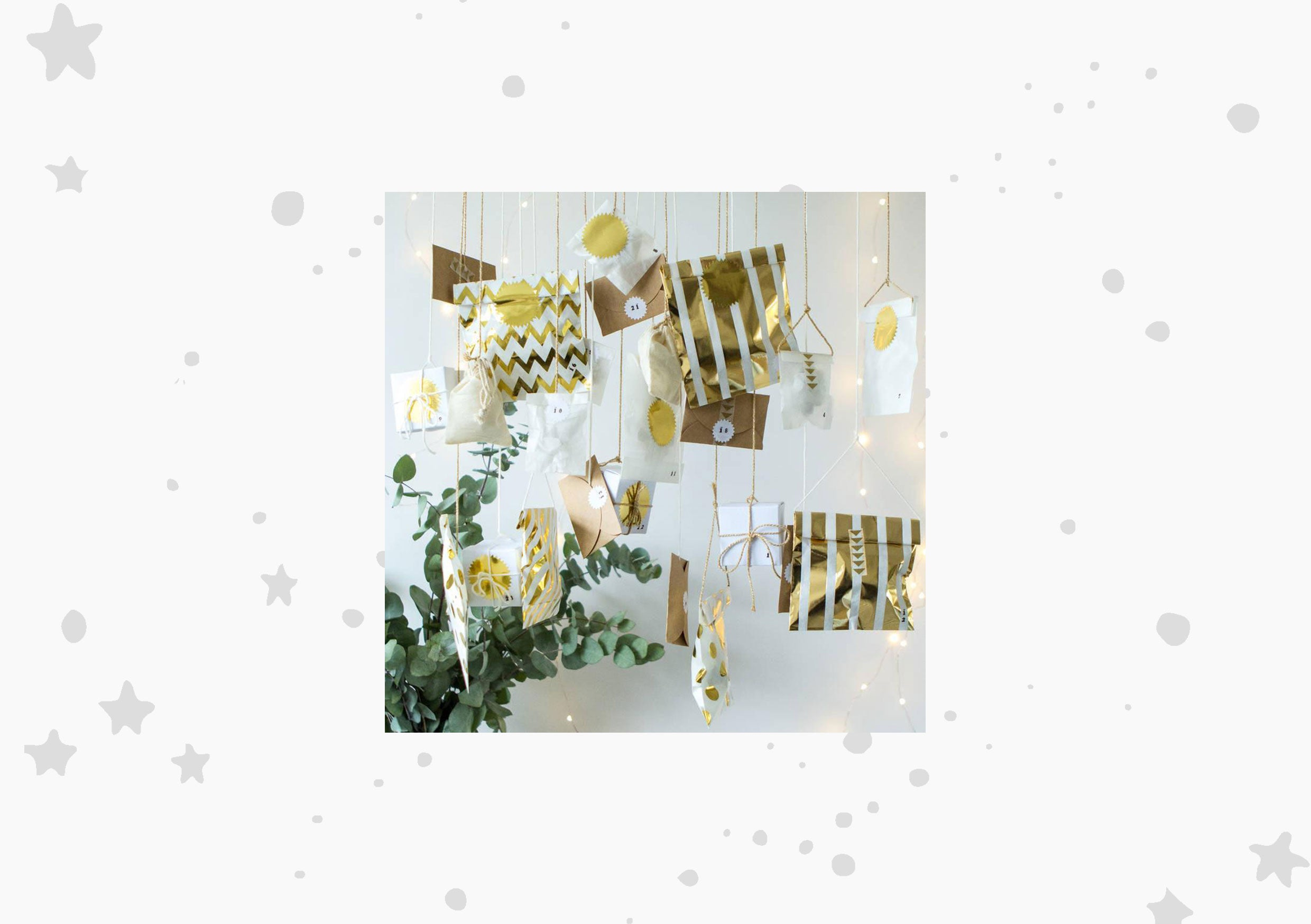 Berylune Gold Modern Craft Advent Calendar Kit