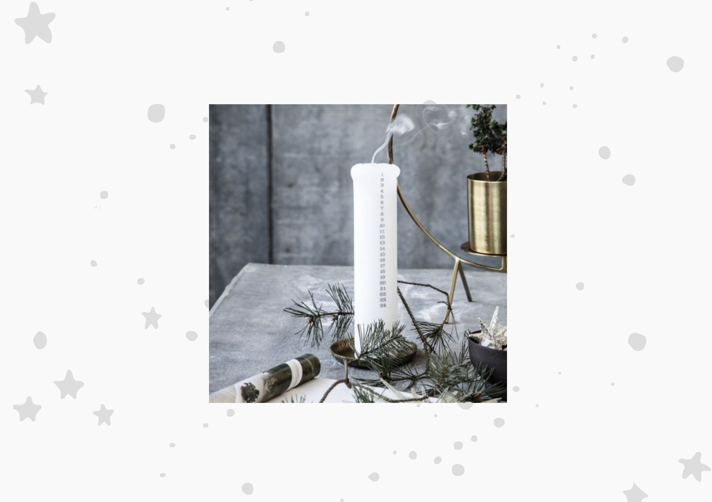 Idyll Home Christmas Advent Candle