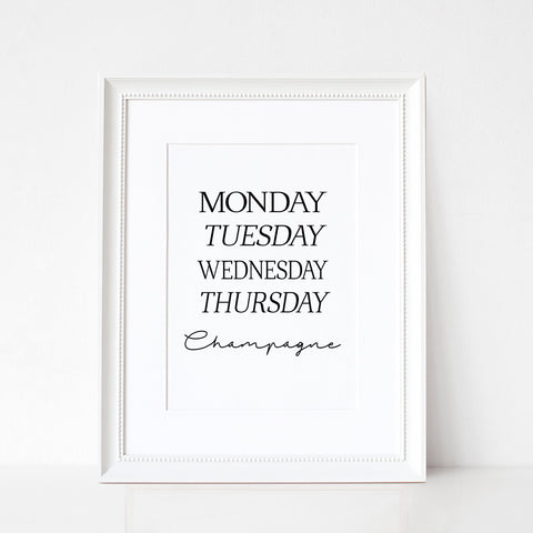 Days Of The Week... - A4 Print