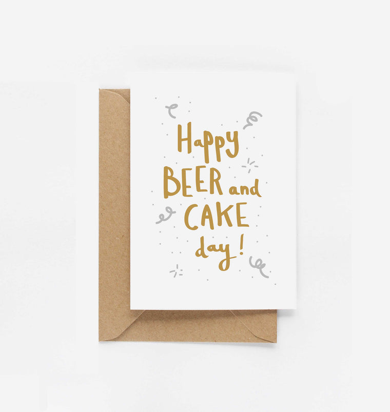 Happy Beer & Cake Day Birthday Card