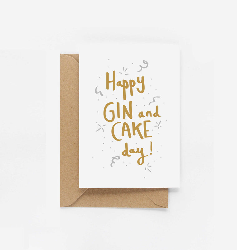 Happy Gin & Cake Day Birthday Card