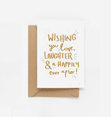 Happily Ever After Congratulations Card