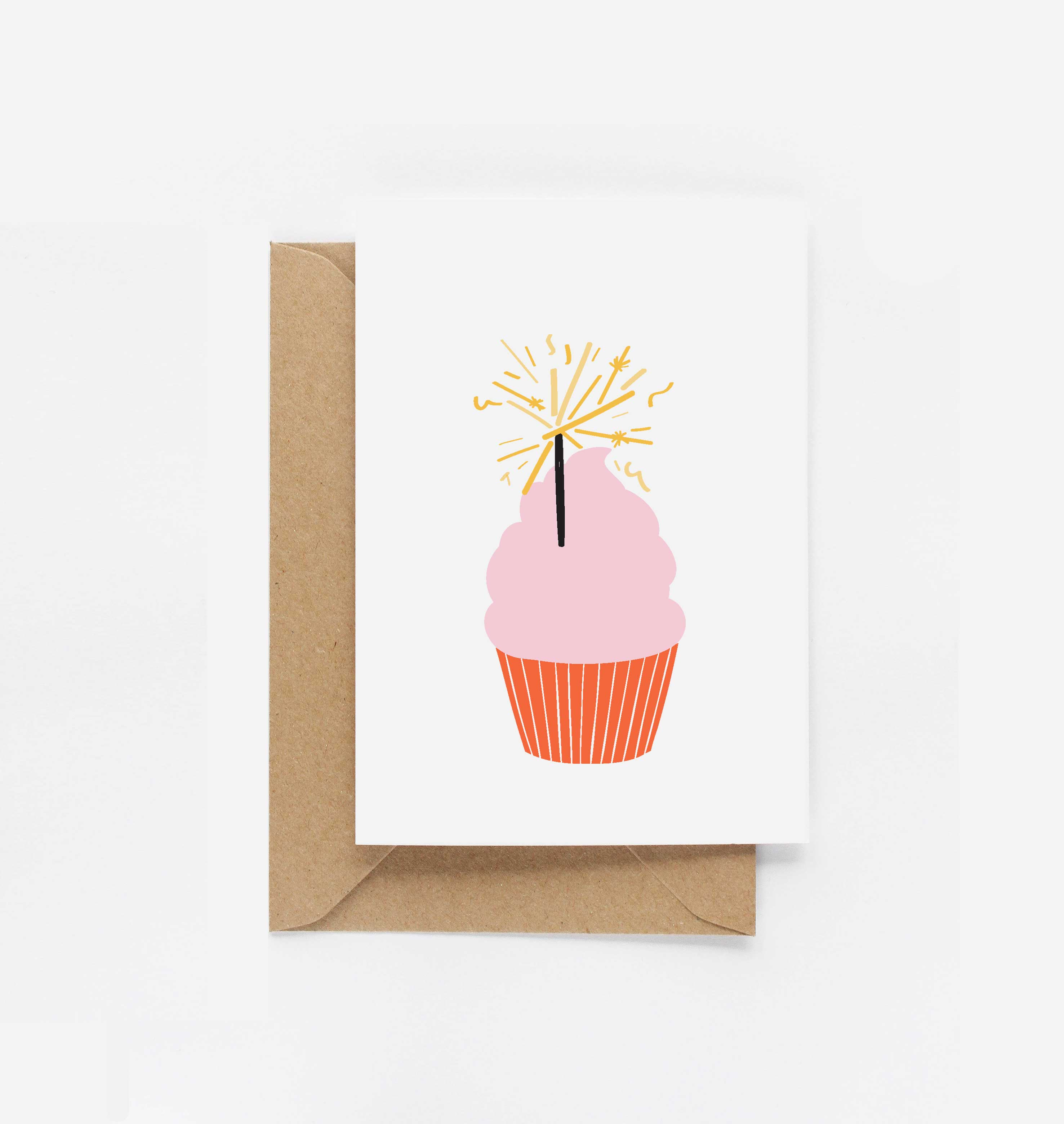 Birthday Cupcake Birthday Card