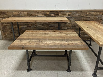 Custom Tables with Reclaimed Hardwood