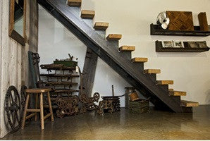 Mixing Modern Design with Old Wood – Floating Staircase