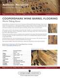 Coopersmark Wine Barrel Flooring Spec Sheet