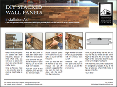 Stacked Wall Panel Installation Guide