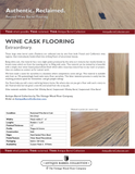 Wine Barrel Cask Flooring