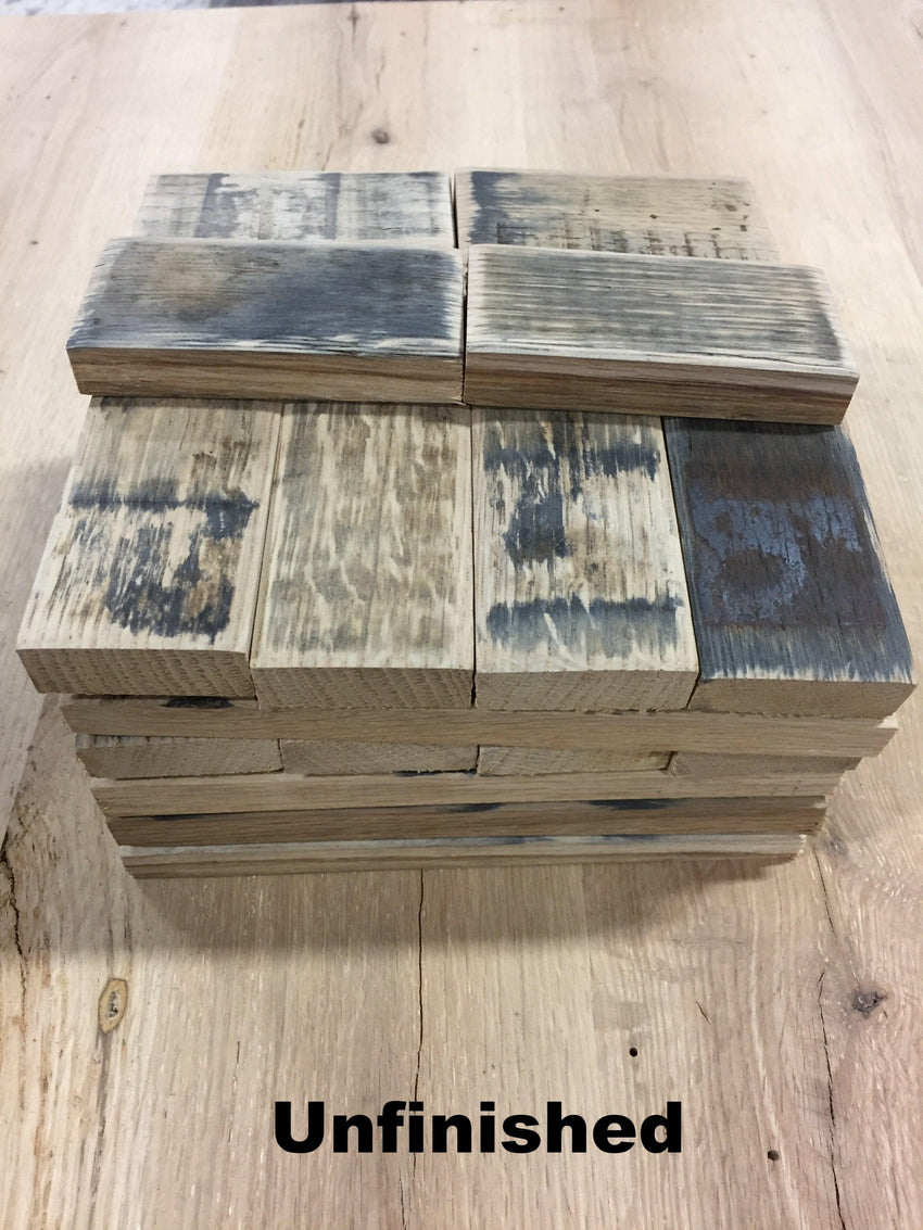 2sf Reclaimed Whiskey Barrel Oak Stave Cobbles