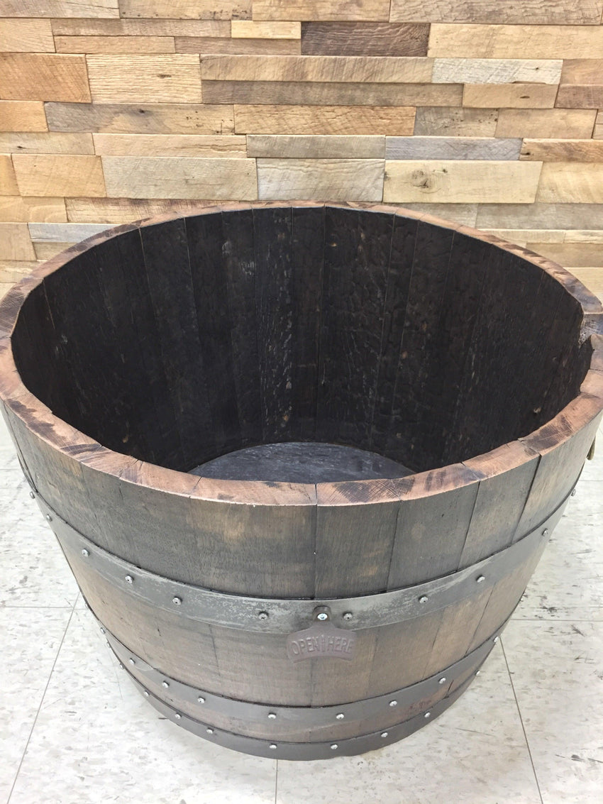 Half Whiskey Barrel Drink Cooler