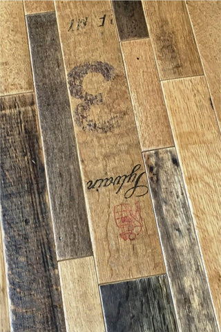 Wine Soaked Oak Wine Barrel Flooring Antique Barrel